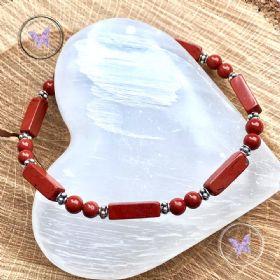 Red Jasper Brick Bracelet